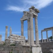 The reconstructed Temple of Trajan at Pergamon
